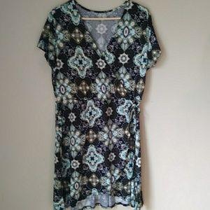 JUST BE New! Faux Wrap Midi Dress